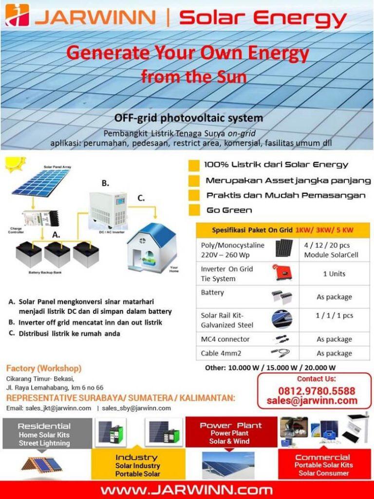 brosur sistem panel surya solar panel off grid