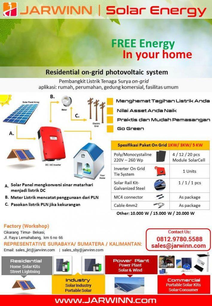 brosur sistem panel surya solar panel on grid